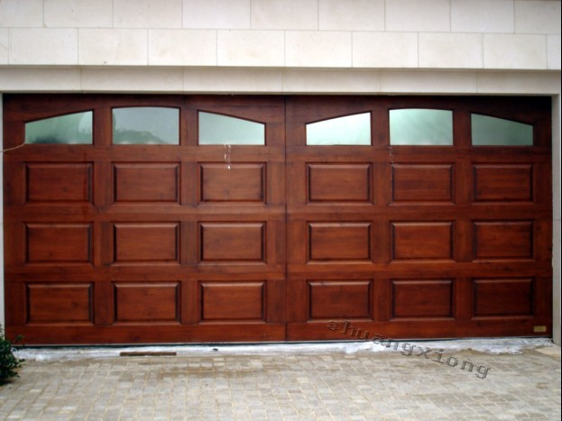 Shaoxing Keqiao imitating wood automatic remote control garage door